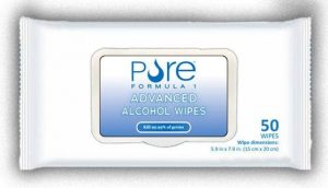 #516427 PURE 75% Alcohol Wipes 50ct Pouch 1ct